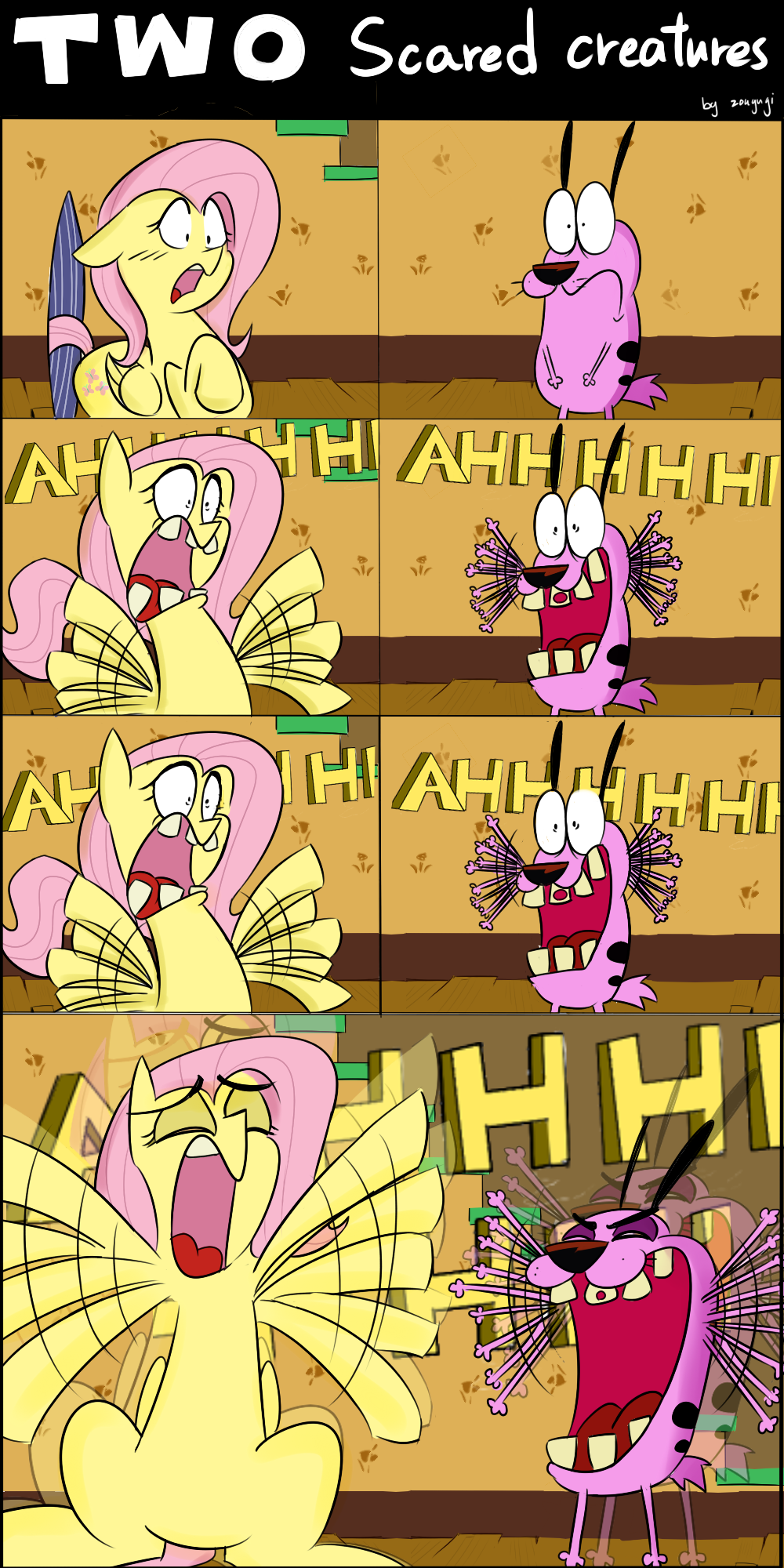 Two scared creatures by zouyugi