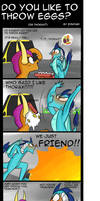My Little Pony: Do you like to throw eggs? by zouyugi