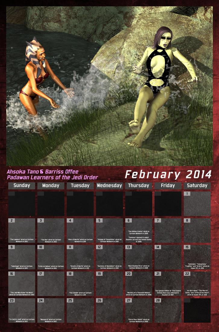 Star Wars Swimsuit Calendar 2014 - February by Crimsonight