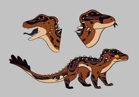 Piebaled Edmarcodile Adopt (CLOSED) by RadioactiveSkeleton
