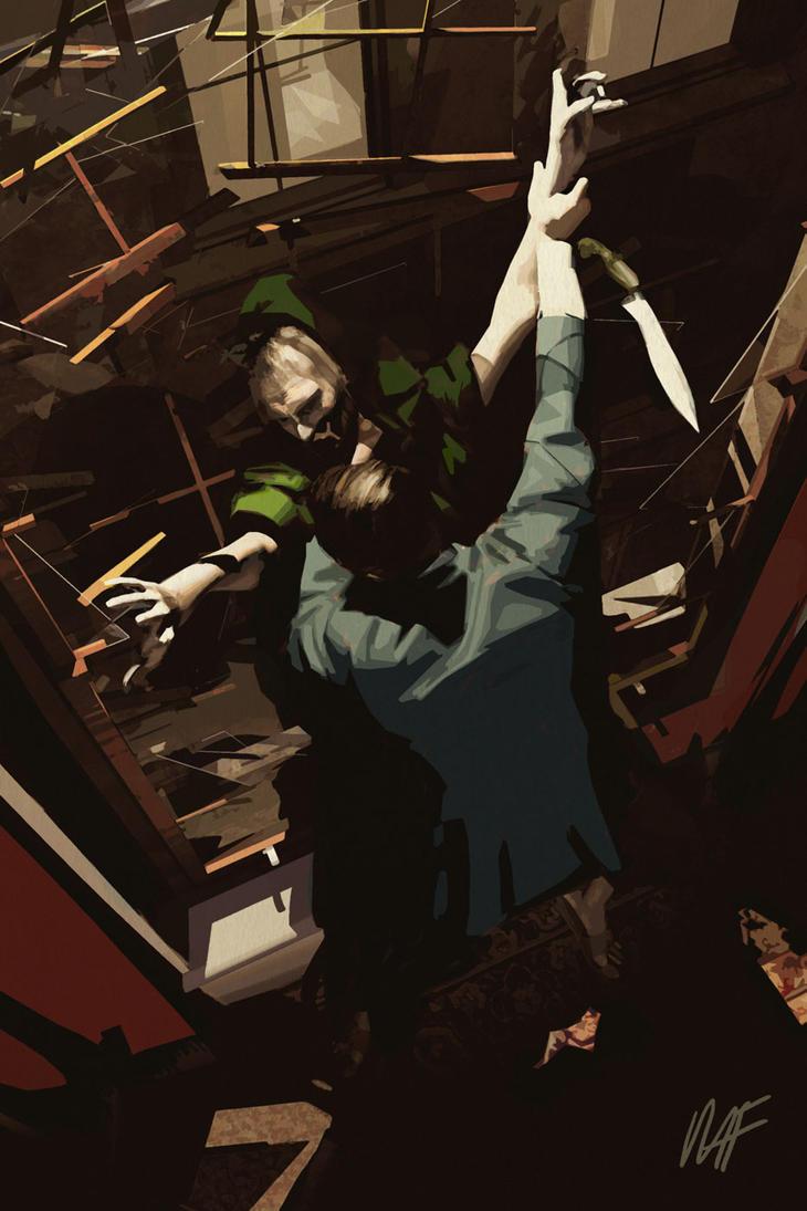 Green Lama Sherlock Holmes Interior by MikeFyles