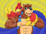 Banjo with cutie Kazooie - Jiggyfied by MrOtterson