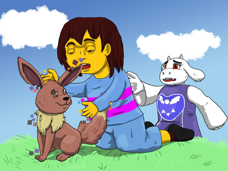 800 x 600 jpeg 107kB, CCL - Glitch Eevee and Undertale by BlueSkyOtter ...
