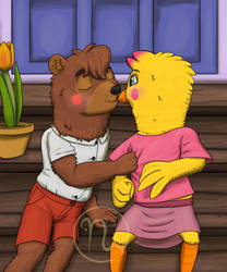 Fredbear College: First Kiss, Young Love