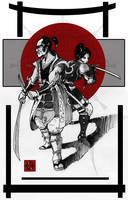 Samourai and ninja by Syrphin