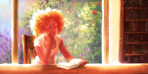 Reading Girl by Syrphin