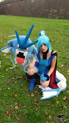 Clair and Gyarados - Pokemon (2) by Domadraghi