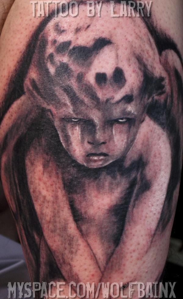Evil Cherubs Tattoos Cherub Tattoo By Me