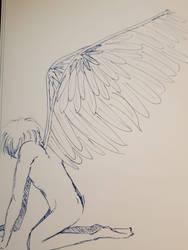Inktober 2018 03 Angel Sketching