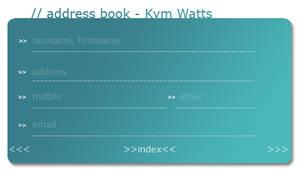 my_psp_addressbook_template. by kymw