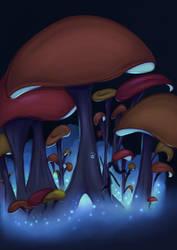 Mushroom-tree Forest