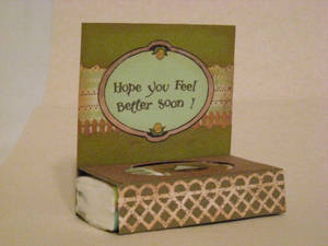 Get well soon Stand up card with Tissue pack