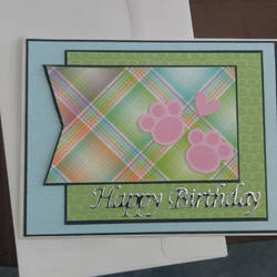 Pet themed birthday card