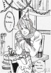 Happy Birthday from Nyanko sensei by bluegayfish