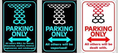 Torchwood Parking Signs by Carthoris