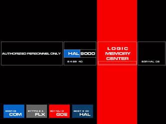 HAL9000 Logic Center Wallpaper by Carthoris