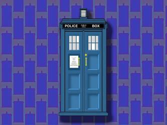 New TARDIS Wallpaper by Carthoris