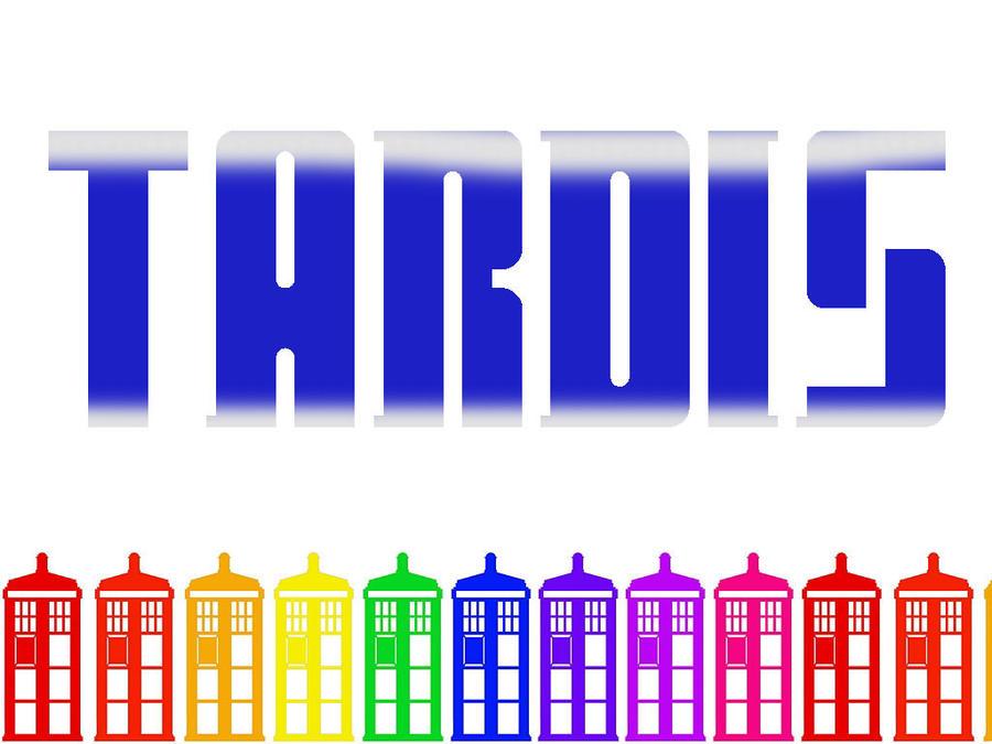 Rainbow TARDIS Wallpaper 2