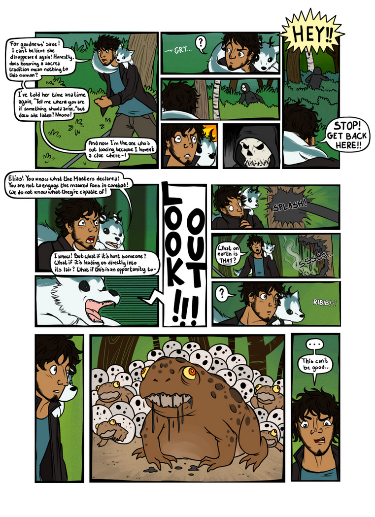 Mask Event - Path Six Page1 by OrionStorm