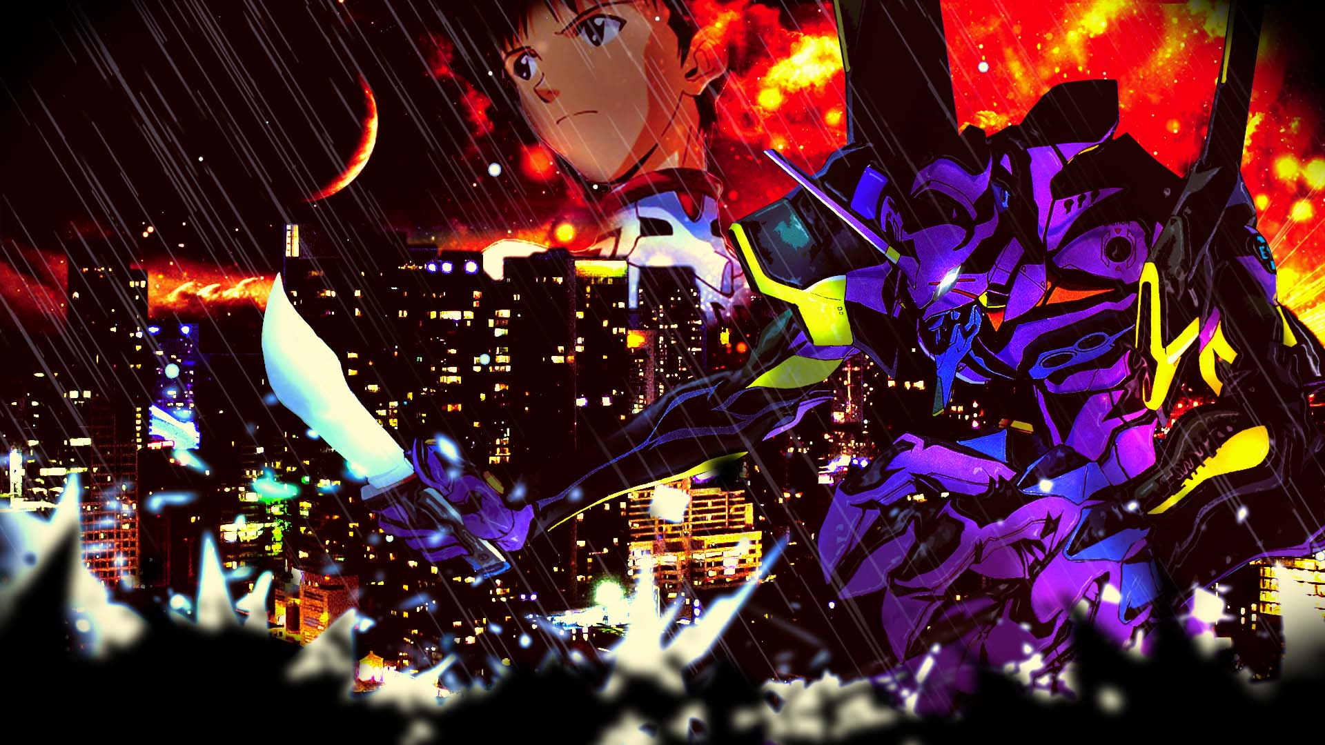 Eva Unit 01 Neon Genesis Evangelion Wallpaper By