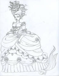 18th Century Mermaid Queen by ichthyophagous