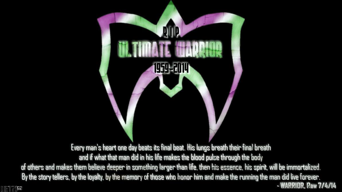 RIP Ultimate Warrior Wallpaper Logo