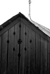 lloyd shanks barn 3BW w/lightning rod