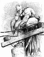 Batman stakeout sketch by skeel76