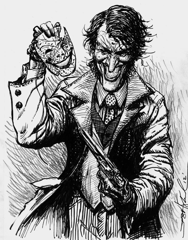Joker comic mask sketch by skeel76 on DeviantArt