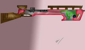 Not so straight rifle mark - II