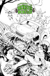 Monster Kids- Issue# 8 Cover- Ink