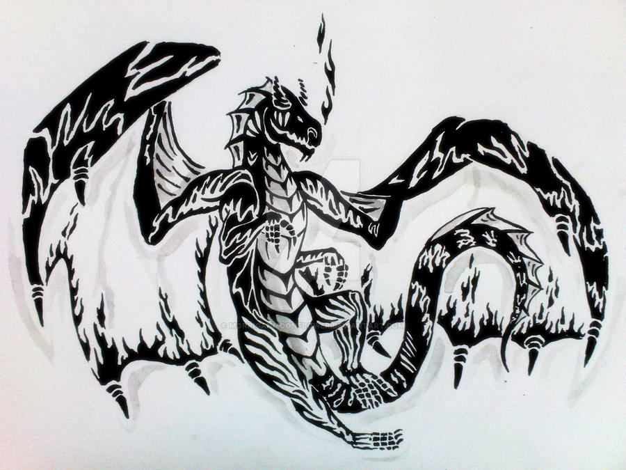 Dragon fire tattoos designs the image for Dragon fire tattoos