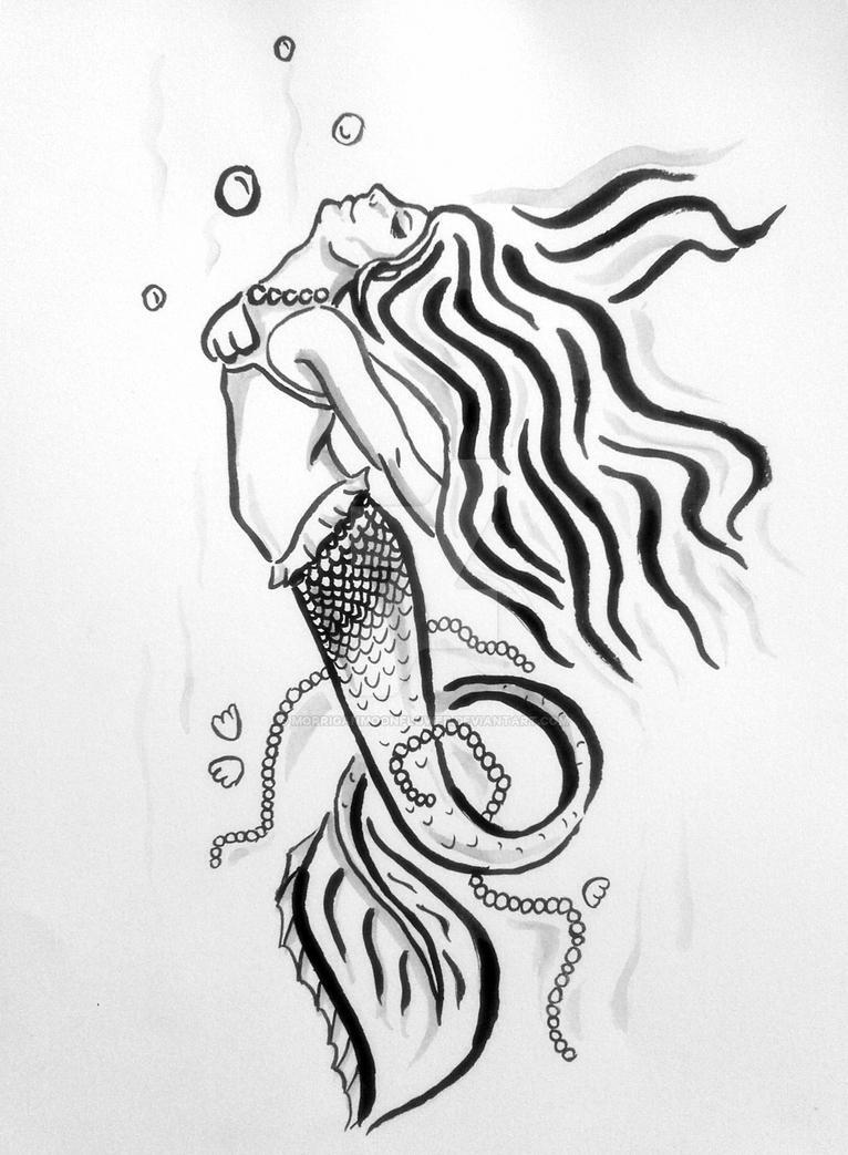 mermaid tribal tattoo design by morriganmoonflower on deviantart. Black Bedroom Furniture Sets. Home Design Ideas
