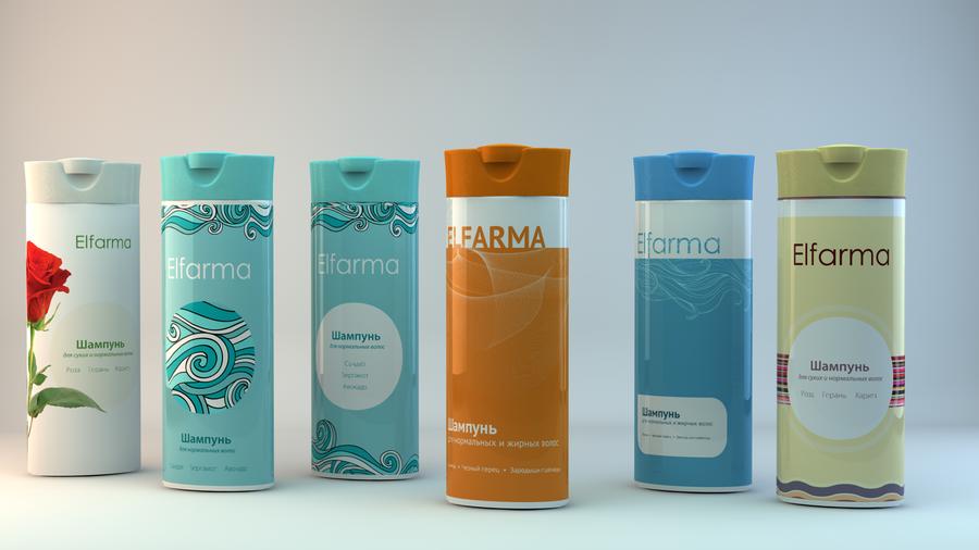 Elpharma shampoo by nikitaindesign