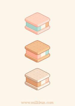 Ice Cream Sandwich Trio