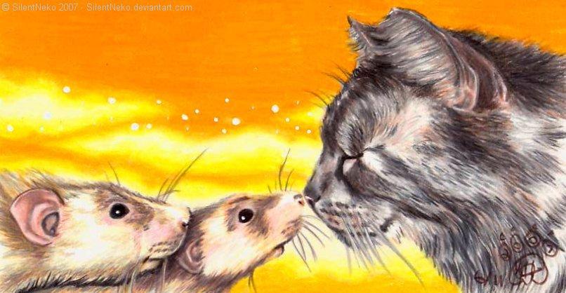 Cat Meets Rats by FelesTacita