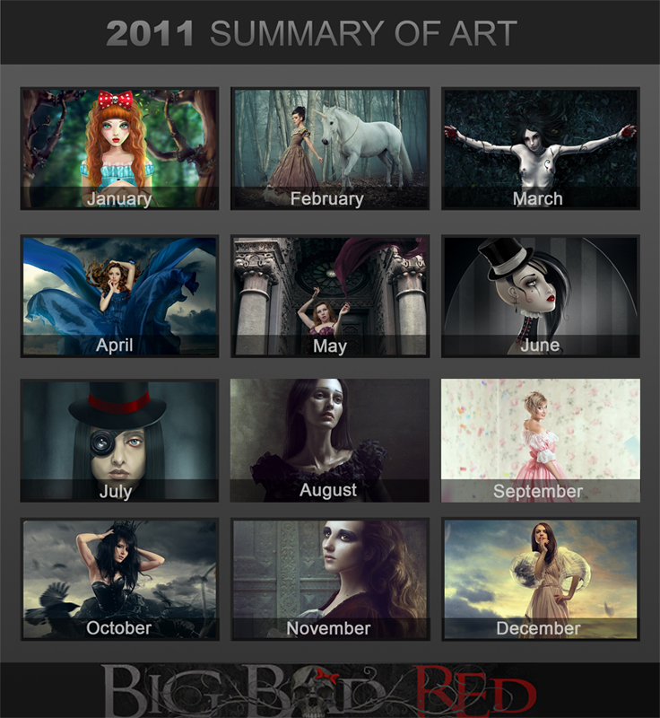 2011 Art Summary by BigBad-Red