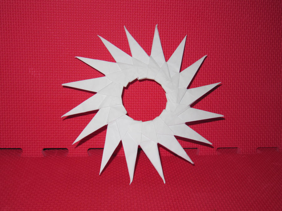 Origami 16 Point Ninja Star By Origamimasters