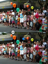 Spot the Different: Parade Crowd by drowe1016
