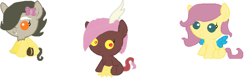 Baby Discord And Fluttershy discord X fluttershy babies