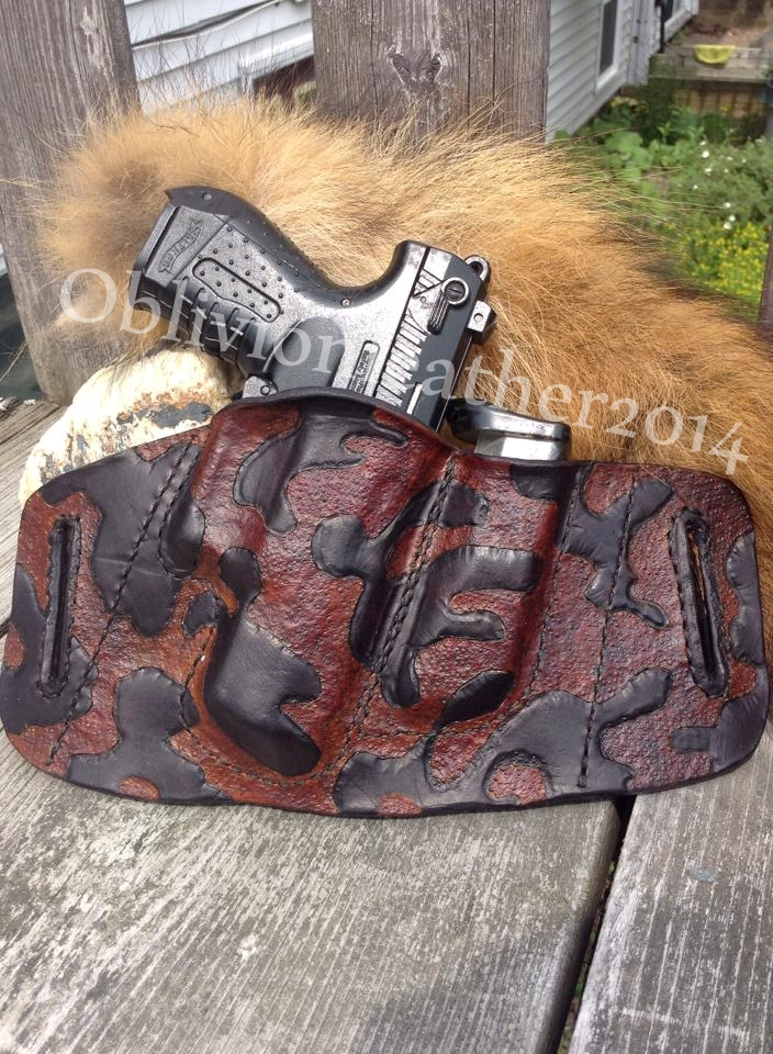 Hand tooled, custom made concealed carry holster. by ...