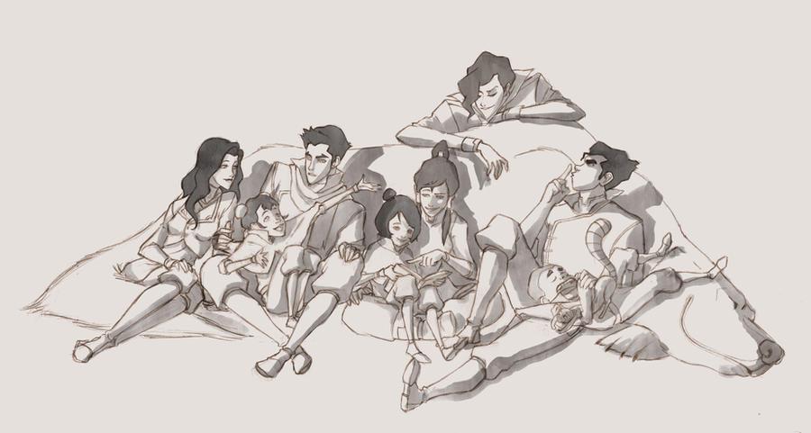Legend of Korra, reading session, pencil