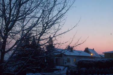 a snowy day by JulchenBunny