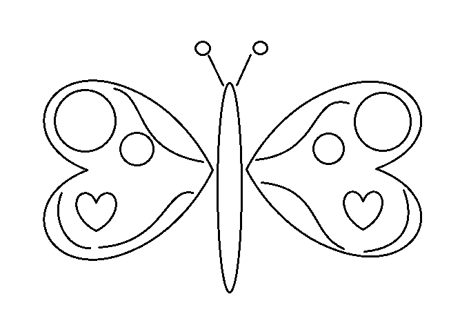 Mariposa Simple para colorear by Dinelly123 on DeviantArt