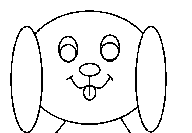 Perrito simple para colorear by Dinelly123 on DeviantArt