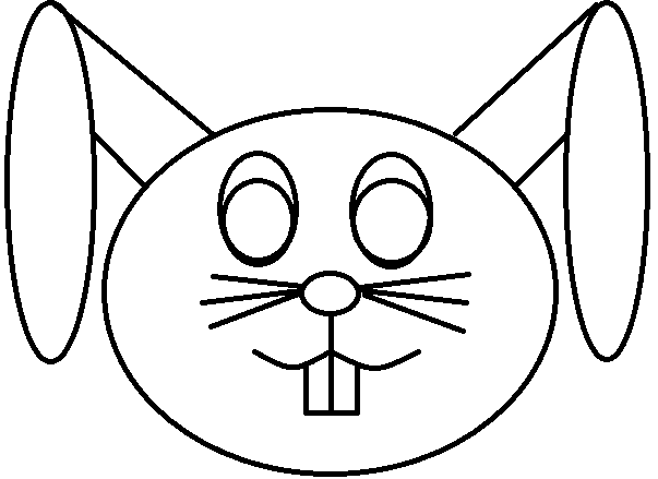 Conejito simple para colorear by Dinelly123 on DeviantArt