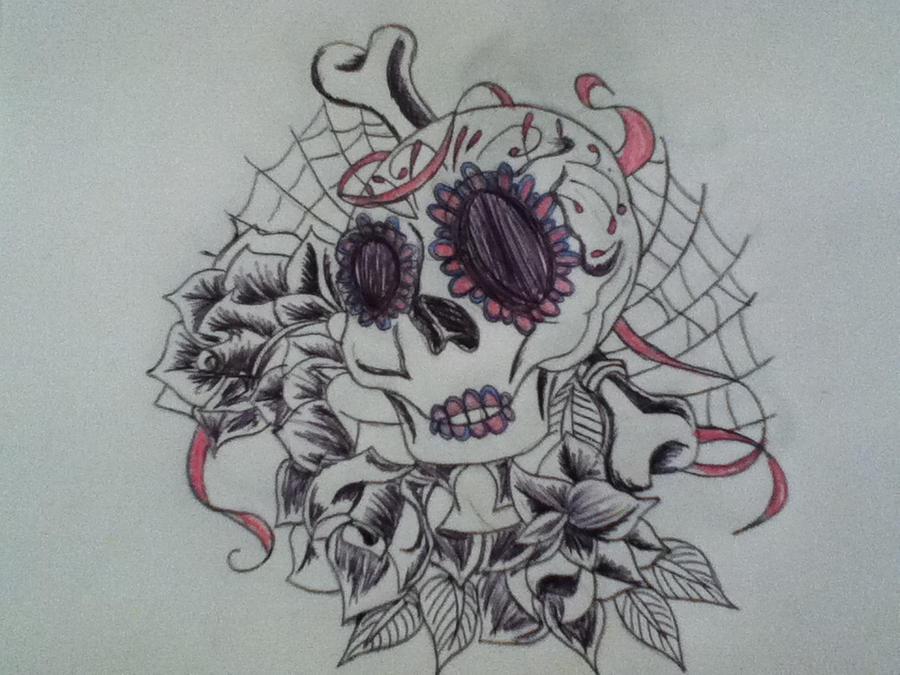 f35f28c3d771c Girly Skull tattoo idea. by ScribbleDuck on DeviantArt
