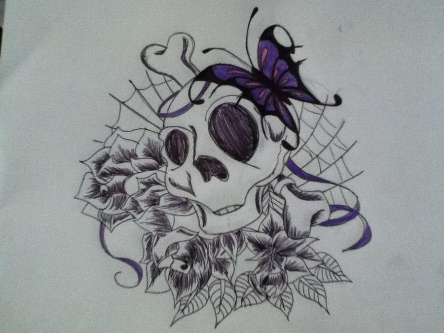 Girly Skull Tattoo Idea 2 By Scribbleduck On Deviantart