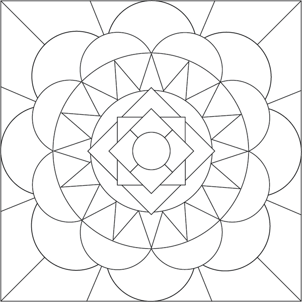 Mandala coloring page by accidental artist