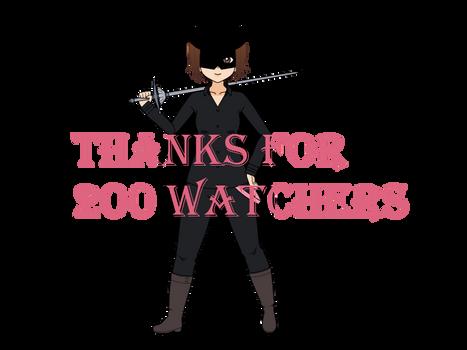 200 watchers, I'm coming
